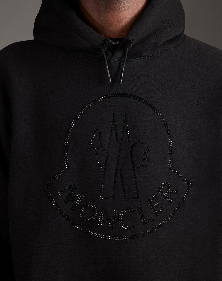 Moncler Hoodie with Swarovski logo Black