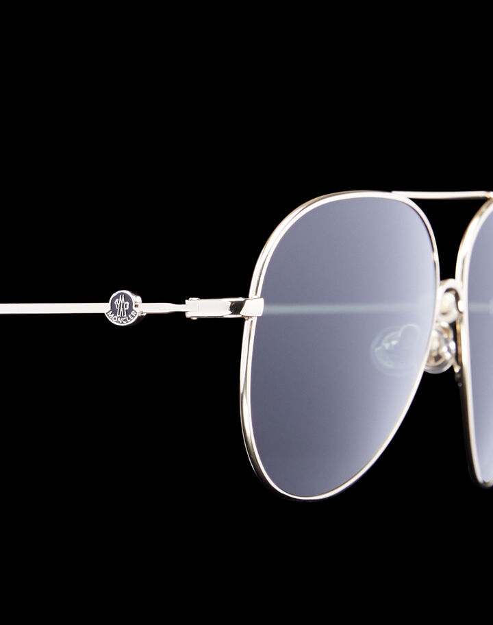 Moncler Aviator sunglasses Shiny Pale Gold