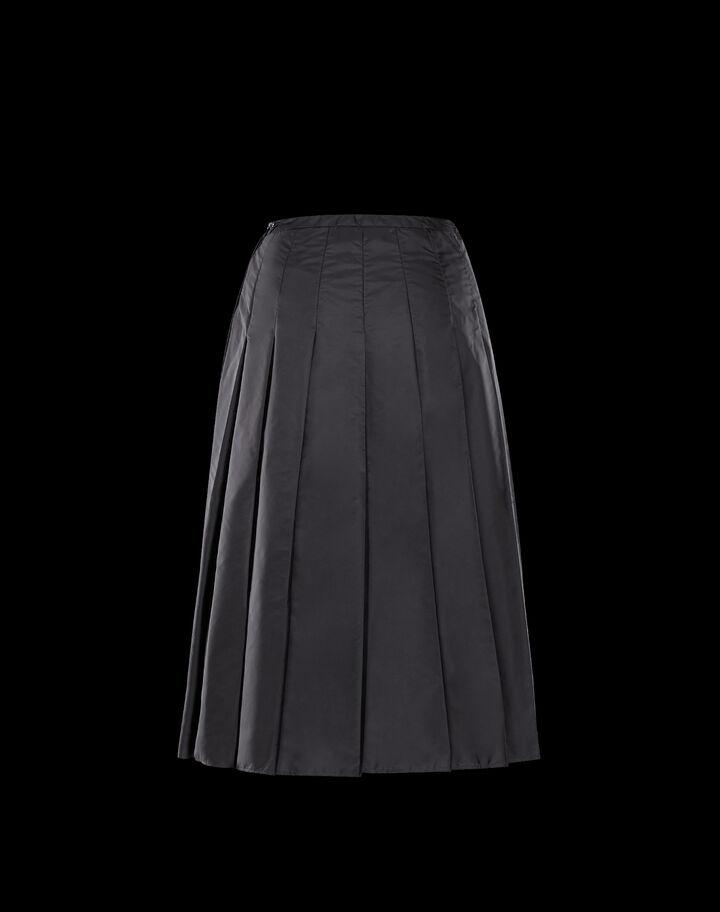 Moncler Nylon skirt Black