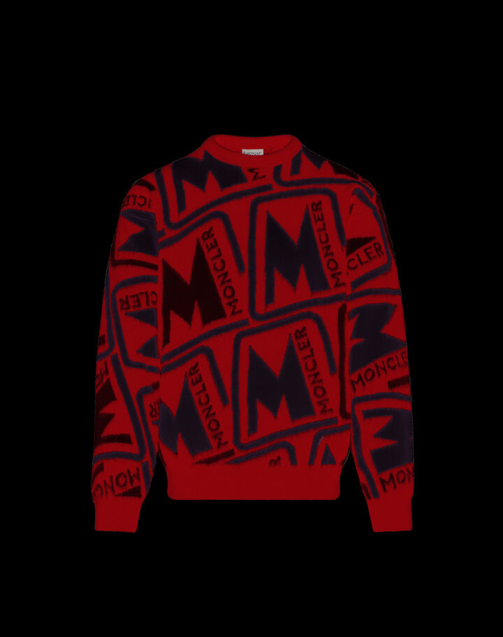 Moncler Inlaid sweater Ruby Red
