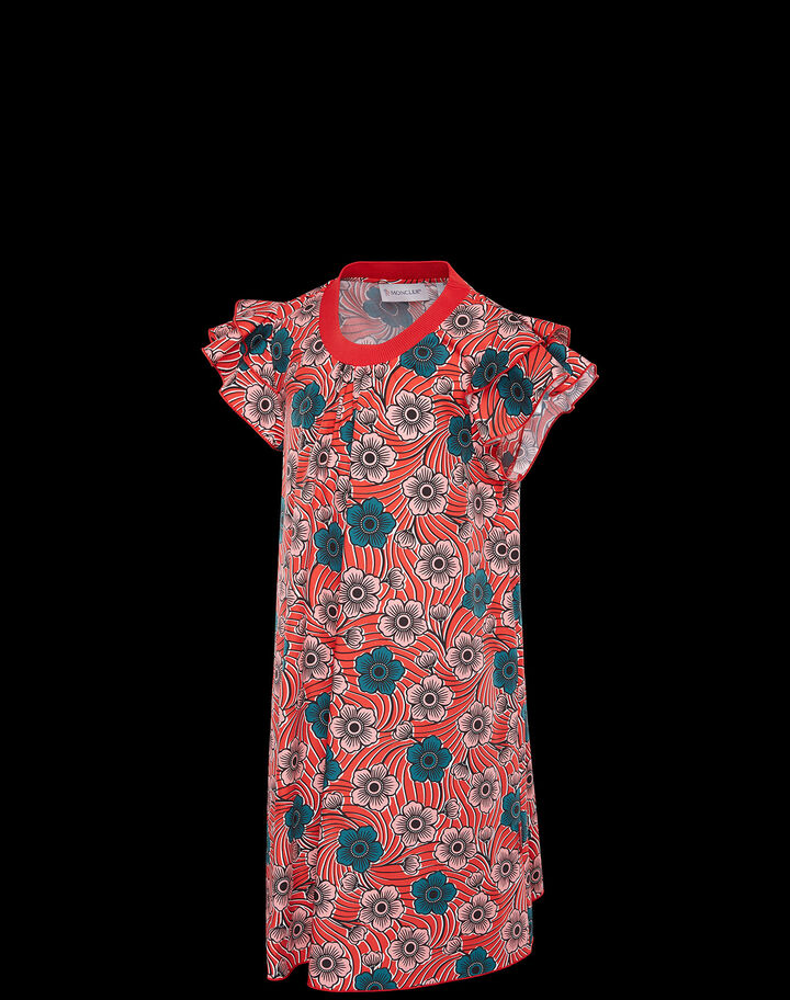 Moncler Floral dress Flowers Print Red