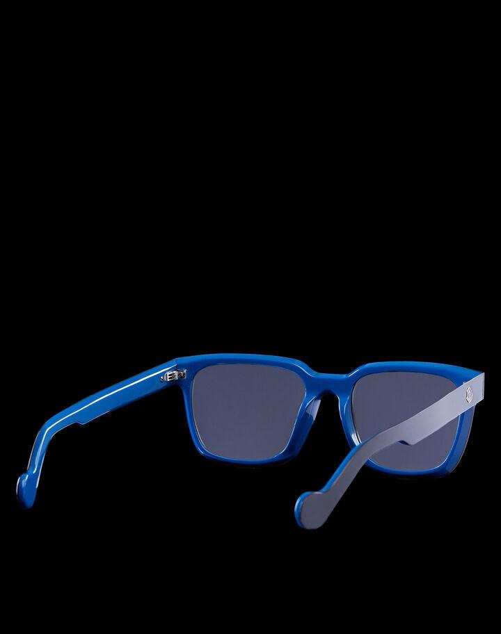 Moncler Rectangular sunglasses 샤이니 블랙/블루