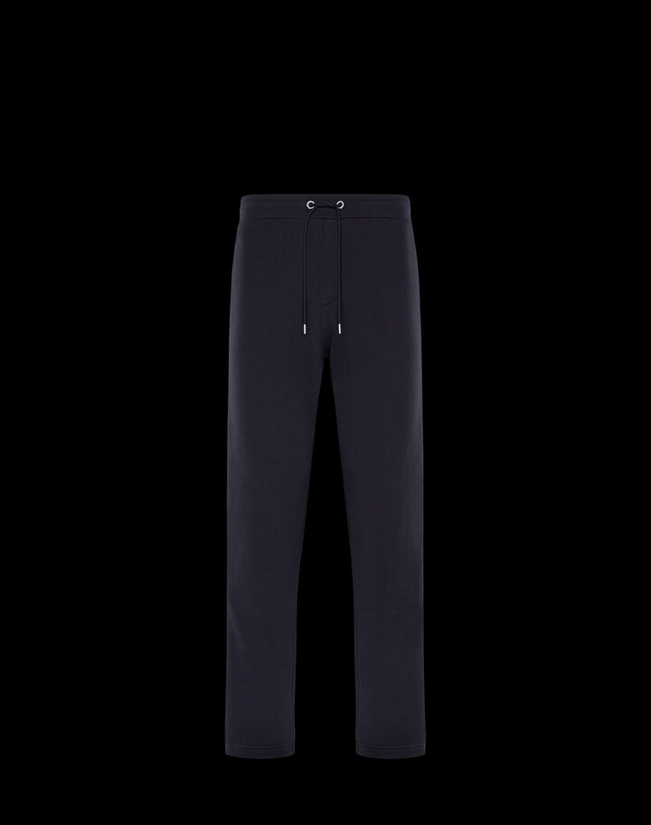 Moncler French terry pants Night Blue