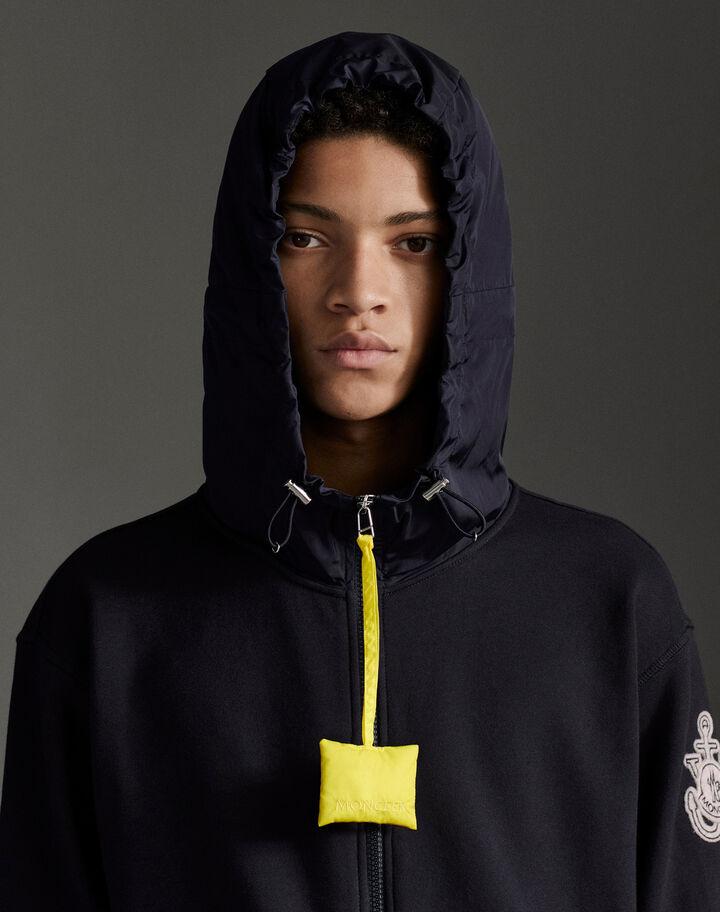 Moncler Zip-up hoodie Dark Blue