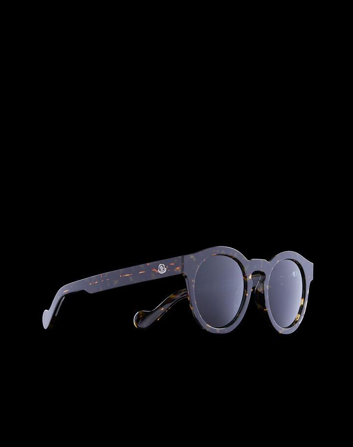 Moncler Rounded sunglasses Shiny Classic Havana
