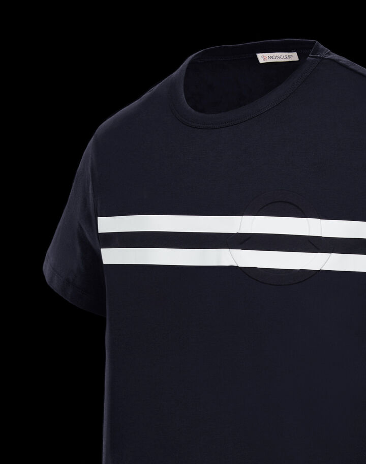Moncler T-shirt with logo Night Blue