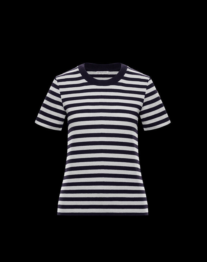 Moncler Striped t-shirt Navy Blue & Off-White