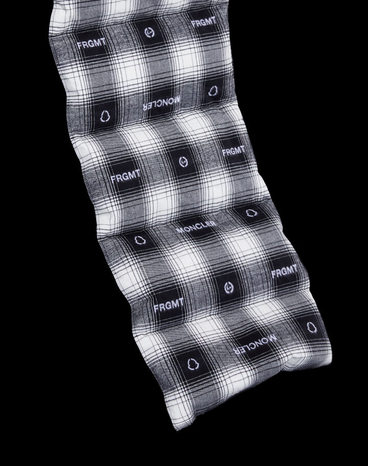 Moncler Check flannel scarf Black/White Checkered