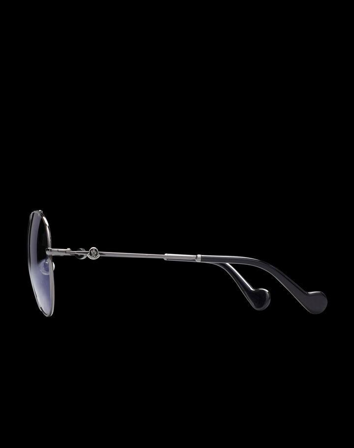 Moncler Aviator sunglasses Shiny Palladium