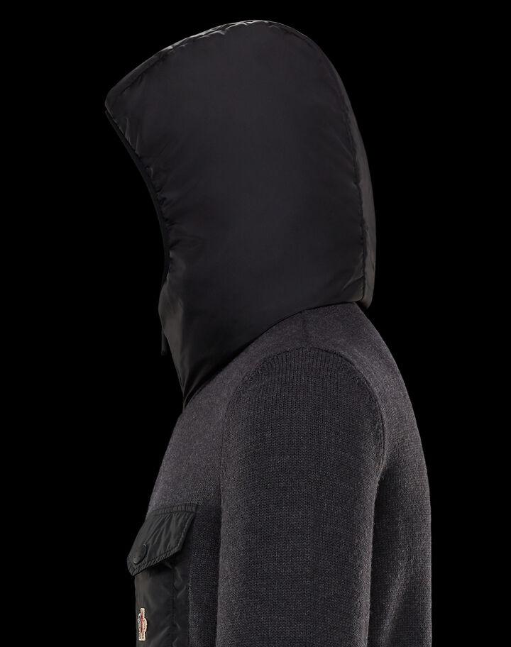 Moncler Cardigan with logo Dark Grey Melange