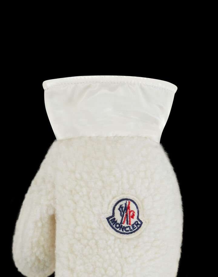 Moncler Teddy muffles Silk White