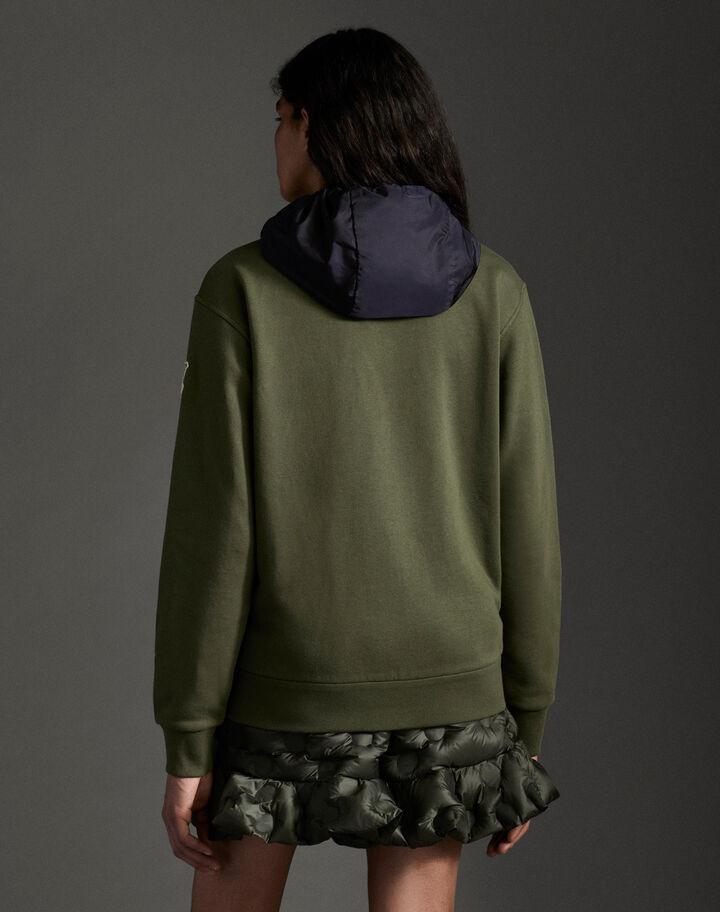 Moncler Zip-up hoodie Army Green