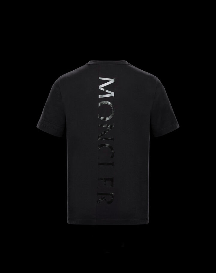 Moncler T-shirt with shiny graphic Black