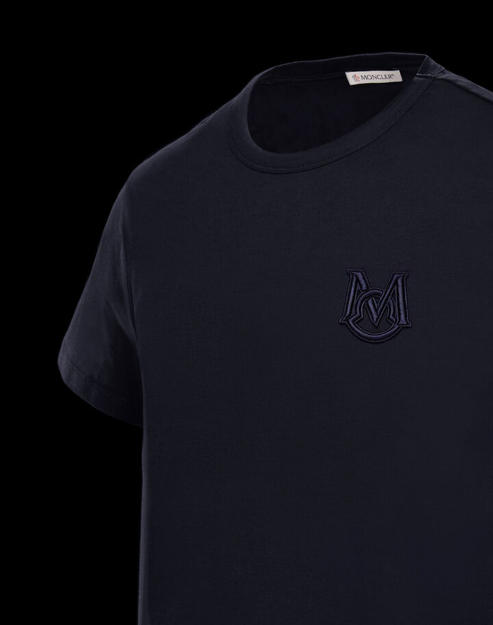 Moncler T-shirt with embroidery Night Blue