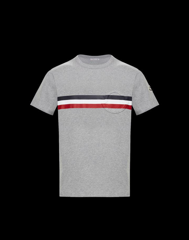 Moncler T-shirt with logo Melange Light Gray