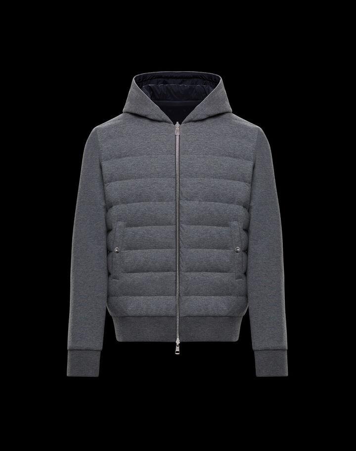 Moncler Reversible sweater Melange Medium Gray