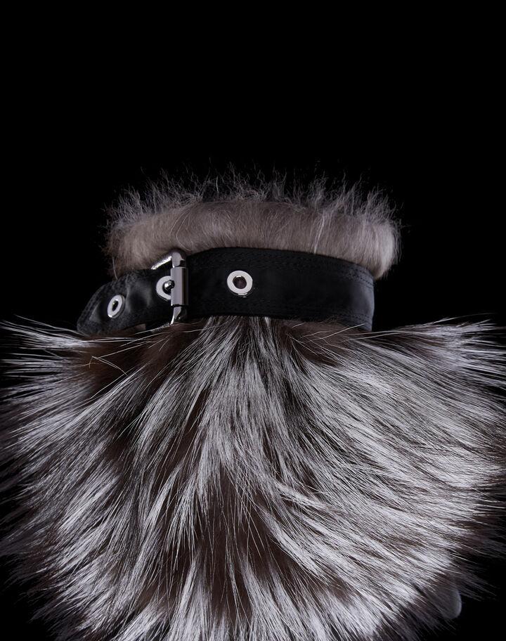 Moncler Fur gloves Black