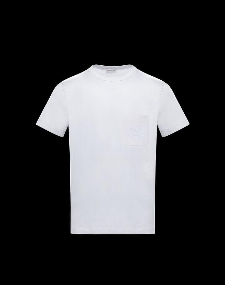 Moncler T-shirt with tone on tone logo Optical White