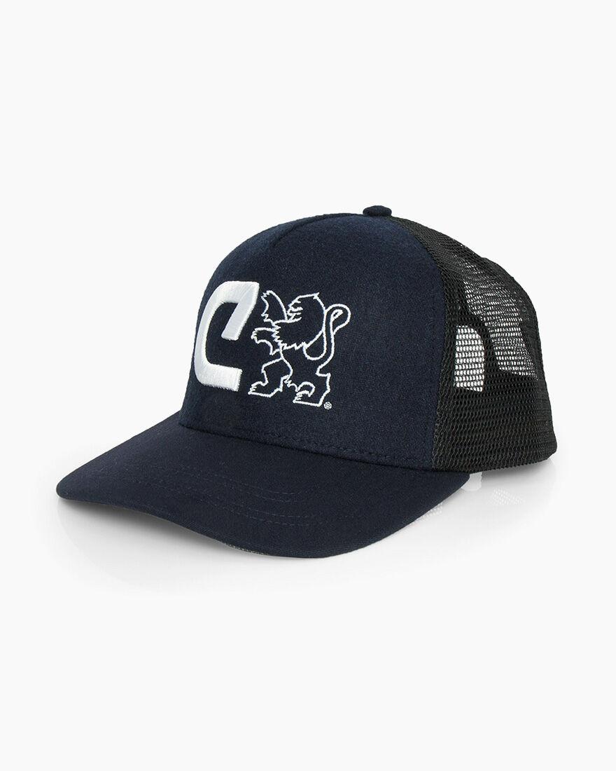 C Trucker Cap, Navy, hi-res