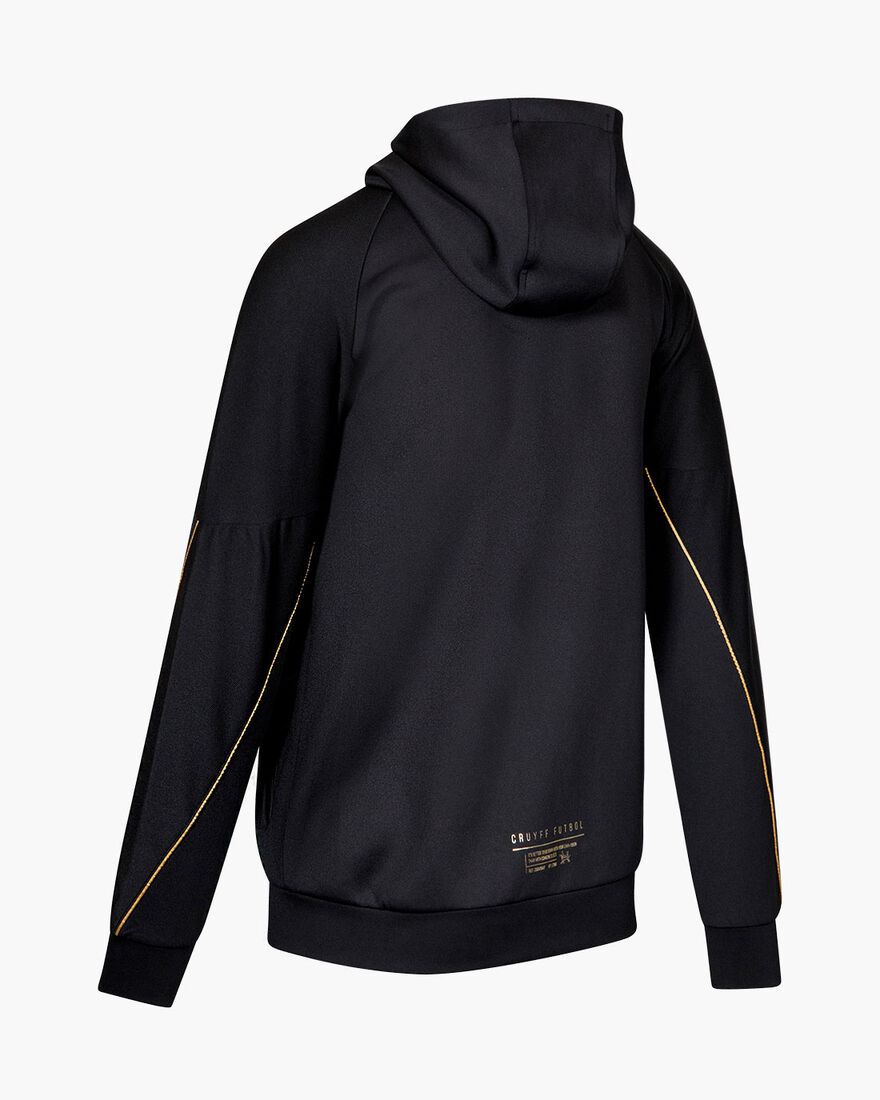 Gaspar Zip Thru - Black - 95% Polyester / 5% Elast, Black, hi-res