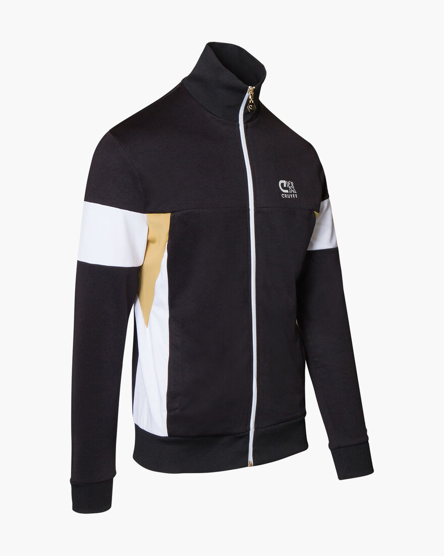 Henri Track Top, Black, hi-res