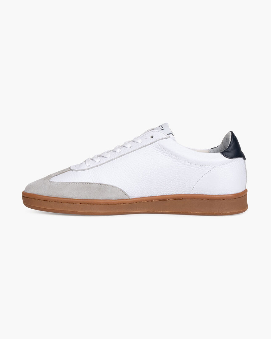 JC Futbol Trainer - Cream - Soft Grain Leather, White, hi-res