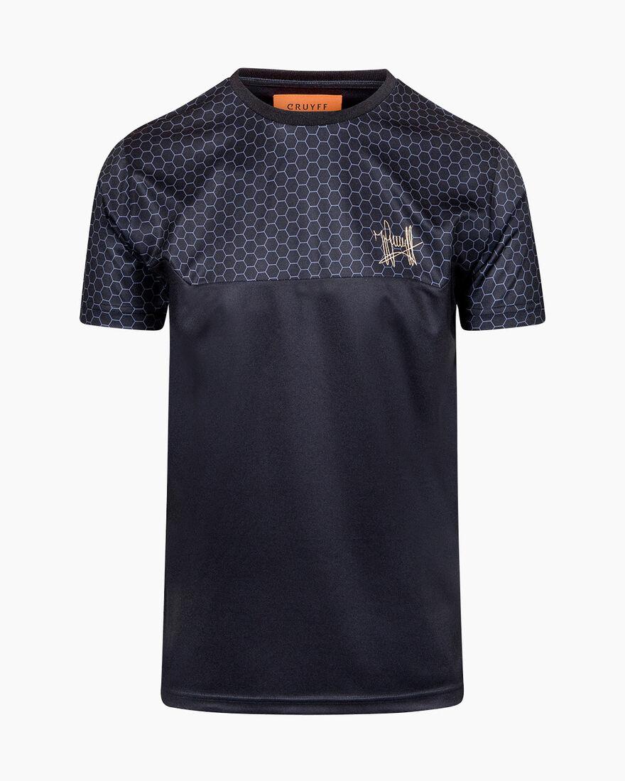 Pasqual SS T-Shirt - White - 100% Polyester, Black, hi-res