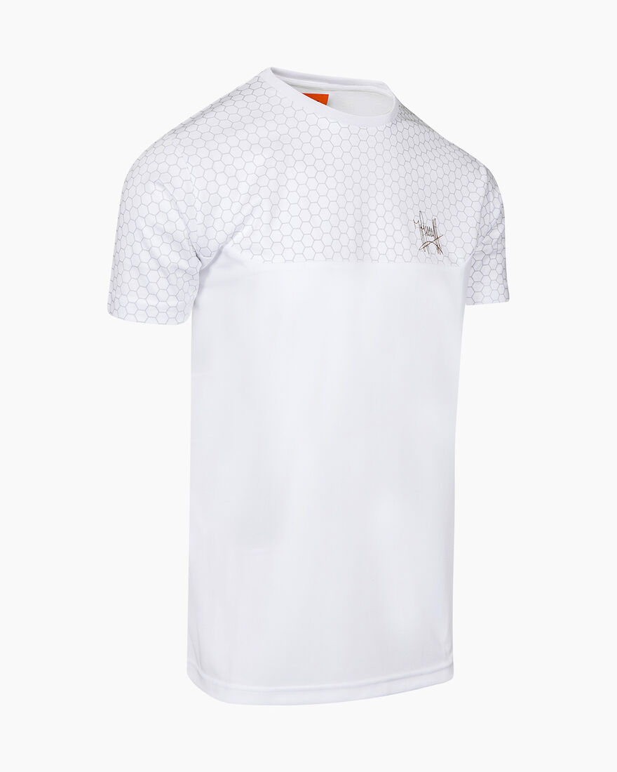 Pasqual SS T-Shirt - White - 100% Polyester, White, hi-res