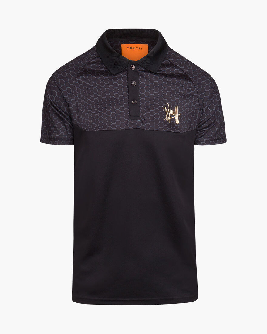 Pasqual SS Polo  - Black - 100% Polyester, Black, hi-res