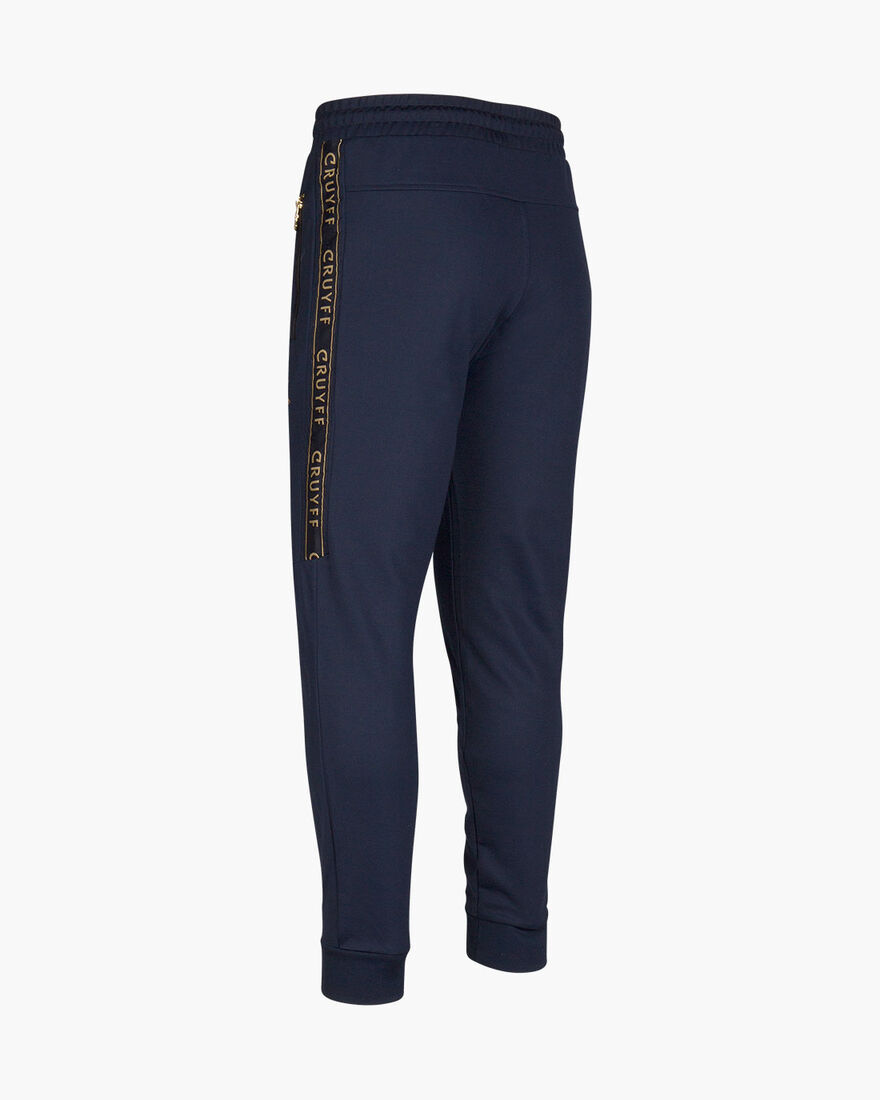 Valentini Track Pant - White/Gold - 65% Polyester , Navy, hi-res