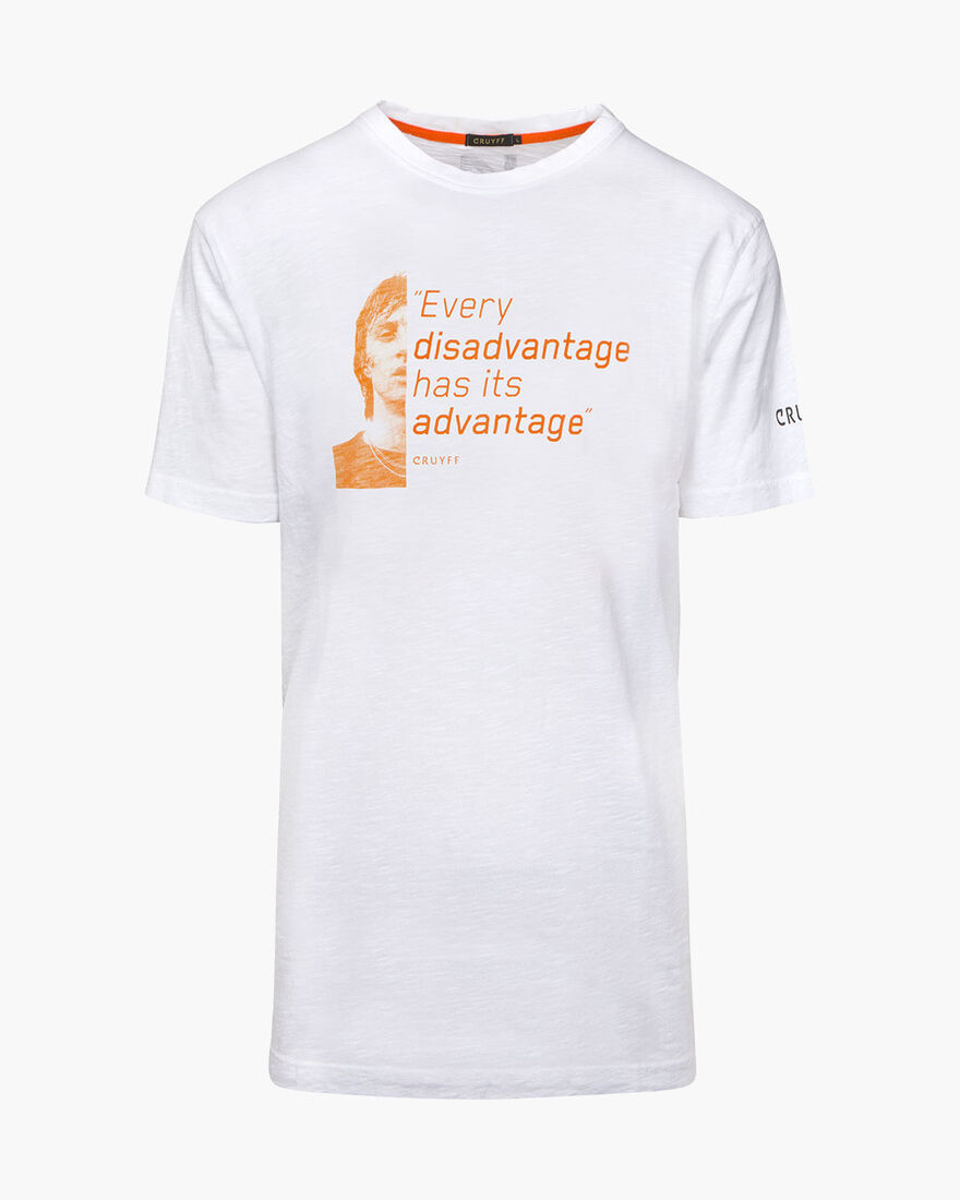Disadvantage Quoted Tee, White, hi-res