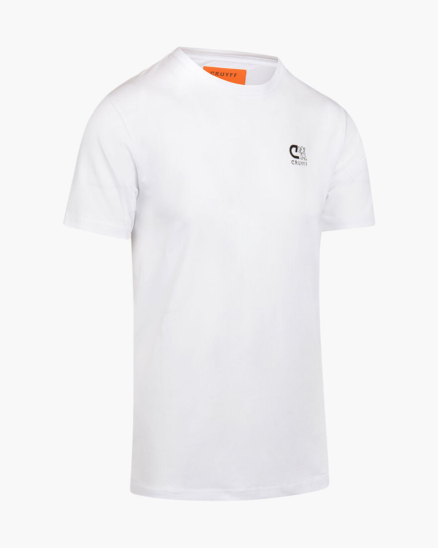 Riera SS Tee - Black - 95% Cotton/5% Elastane, White, hi-res