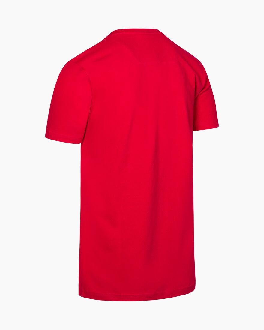 Lluis SS T-Shirt - White - 95% Cotton / 5% Elastan, Red, hi-res