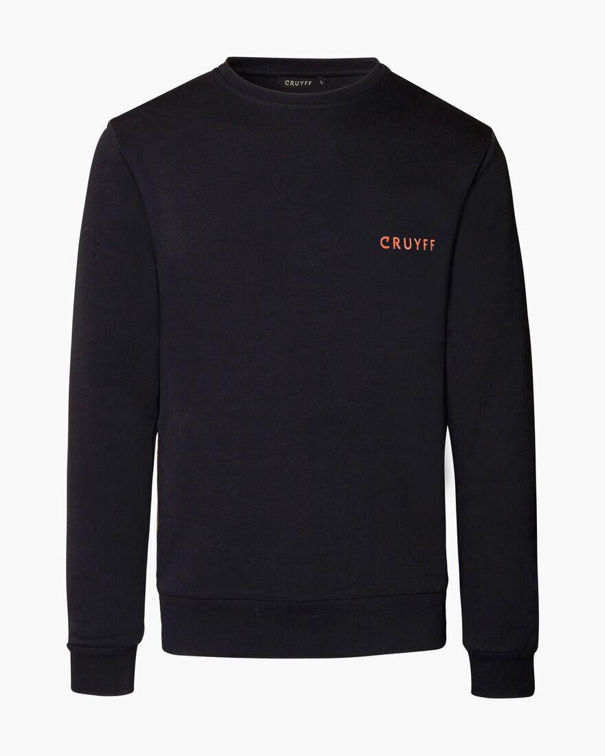 Cruyff Quoted Crewneck, Black, hi-res