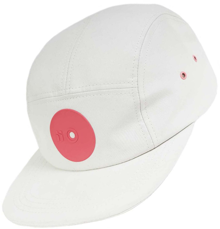 Mr. Serious Pink dot Fat  Cap weiß