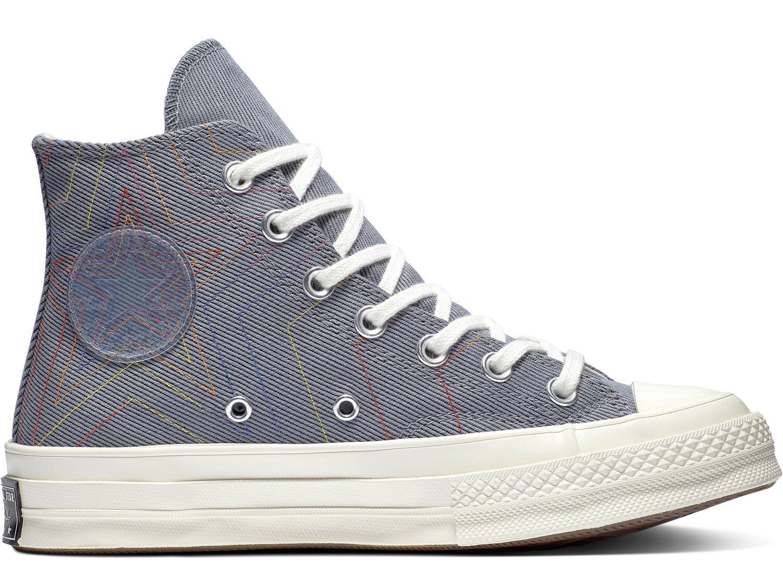 Chuck 70 Rainbow Hi  Schuhe grau