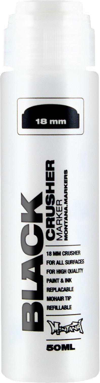 Black 50 ml 18 mm Crusher  Leermarker 18 mm Crusher