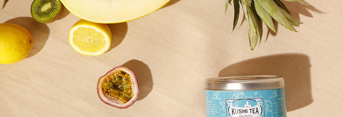 Blue Detox : mélange à base de thé vert, maté et rooibos | Kusmi Tea