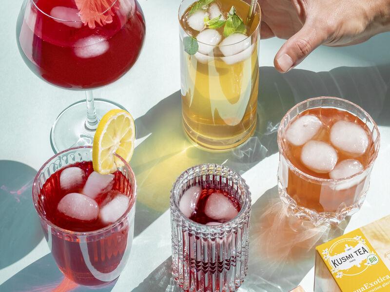 L'été sera frais, avec les thés glacés et infusions glacées de Kusmi Tea !
