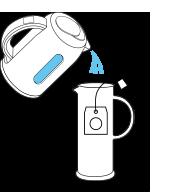 Étape de préparation de thé glacé