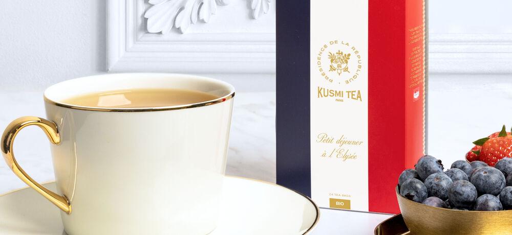 Nouveau thé bio, Kusmi Tea x Le Palais de l'Elysée