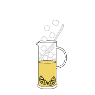 Dessin carafe de thé glacé
