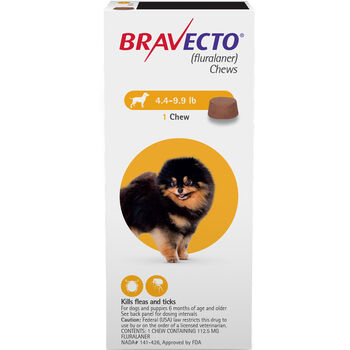 Bravecto Chews 1 Dose Toy Dog 4.4-9.9 lbs product detail number 1.0