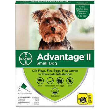 Advantage II 4pk Dog 3-10 lbs product detail number 1.0