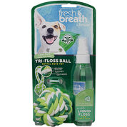 TropiClean Fresh Breath Tri-Floss Rope Ball with Liquid Floss-product-tile