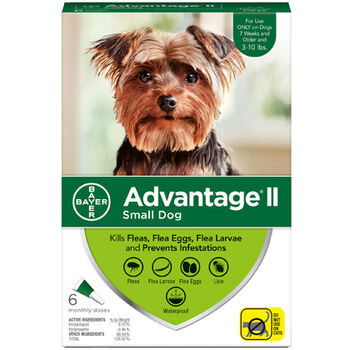 Advantage II 12pk Dog 3-10 lbs product detail number 1.0