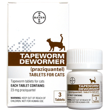 Bayer Tapeworm Dewormer Tablets for Cats-product-tile