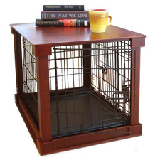 Dog Crate with Wooden Cover-product-tile
