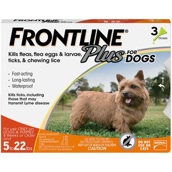 Frontline Plus 3pk Dogs 5-22 lbs product detail number 1.0