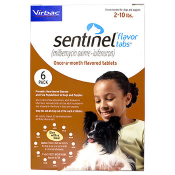 Sentinel 12pk Brown 2-10 lbs Flavor Tabs product detail number 1.0